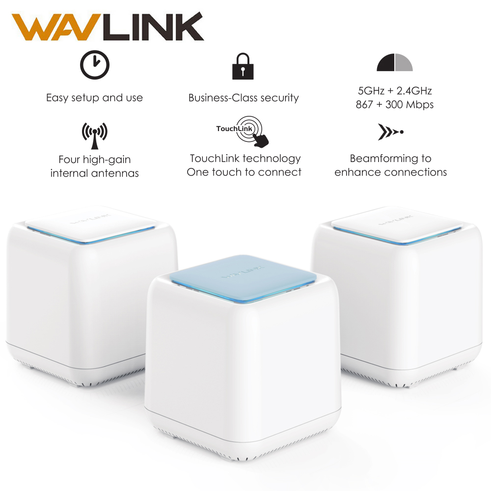 HALO Base Wireless Smart Wifi Router AC1200 Dual band 2 4 5Ghz Whole Home WiFi Mesh