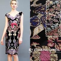 145cm wide 430g/m custom fashion jacquard fabric three dimensional jacquard brocade fabric wide jacquard gold thread clothing co