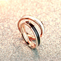 Hot Sale High Polish Rose Gold Plated Titanium Steel Women men Wedding Ring Quality Luxury Brand Couple Rings Wedding Jewelry