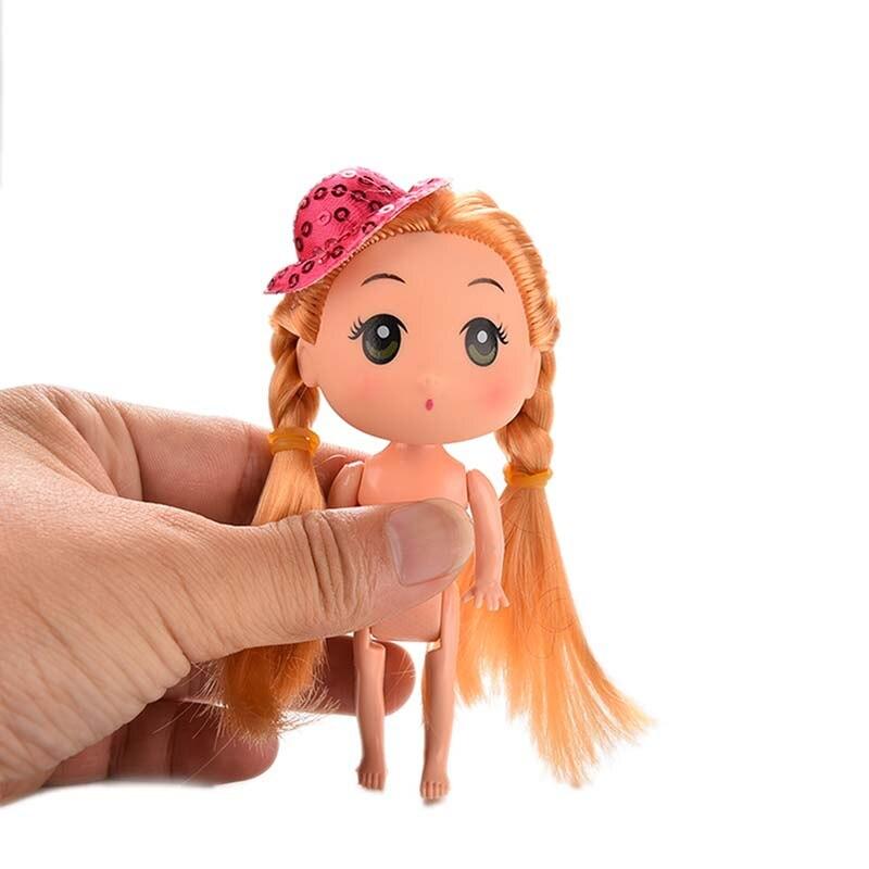 Haute Qualité 1 Pcs Cheveux Longs Poupée Nue pour ddung Avec Paillettes Chapeau Cake Pan Décor Figure Jouet K12 bonne qualité