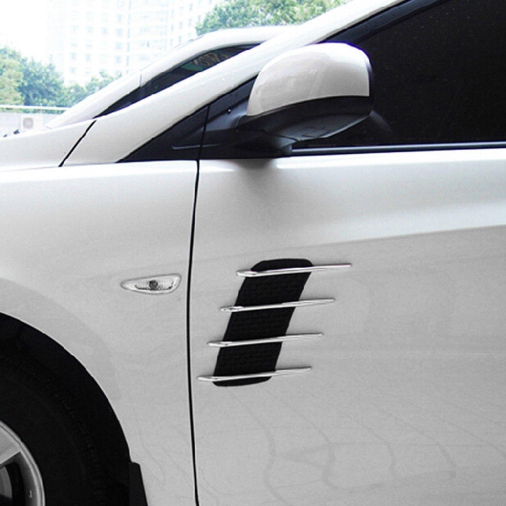 Product details of 2 Pieces Car-styling Car Hood Side Flow Vent Fender Air Net Door Decals Auto Sticker DIY Simulation Car Shark Gills Outlet Soft - intl & 2 Pieces Car-styling Car Hood Side Flow Vent Fender Air Net Door ...