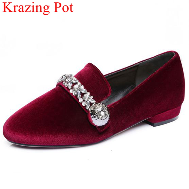 Fashion Big Size Brand Shoes Crystal Sweet Thick Heel High Quality Women Pumps Round Toe Increased Sexy Women Causal Shoes L01