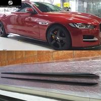 Hot sell XE carbon fiber side skirts body apron kit for Jaguar XE car styling 2015UP