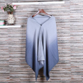 Quality assurance oversized reversible reversal ladies winter imitation cashmere scarf gradient shawl cardigan sweater b76