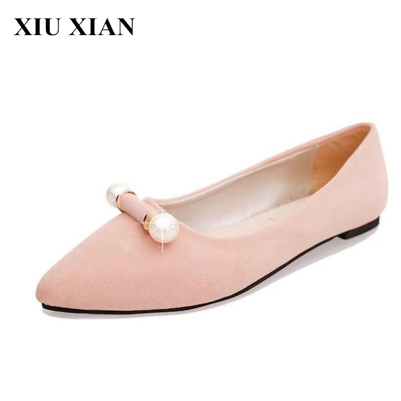Spring Summer Pink Pointed Toe Flats Women Beaded Slip on Sandals Female Shallow Low Heel Loafers Zapatos Mujer Flats Lady Shoes enmayer pointed toe summer shallow flats slip on luxury brand shoes women plus size 35 46 beige black flats shoe womens