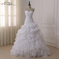 ADLN In Stock Mermaid Wedding Dresses Custom Off the Shoulder Pleats Ruffled Organza Bridal Gowns Vestidos de Novia 2019