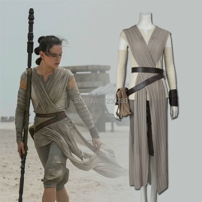 Bien-aimé Star Wars Rey Cosplay Costume Star Wars The Force Éveille Cosplay  PA87