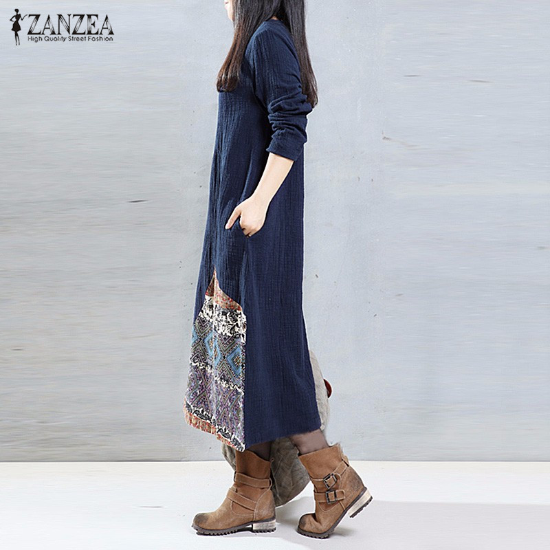 Женское платье ZANZEA 2017 O vestidOs