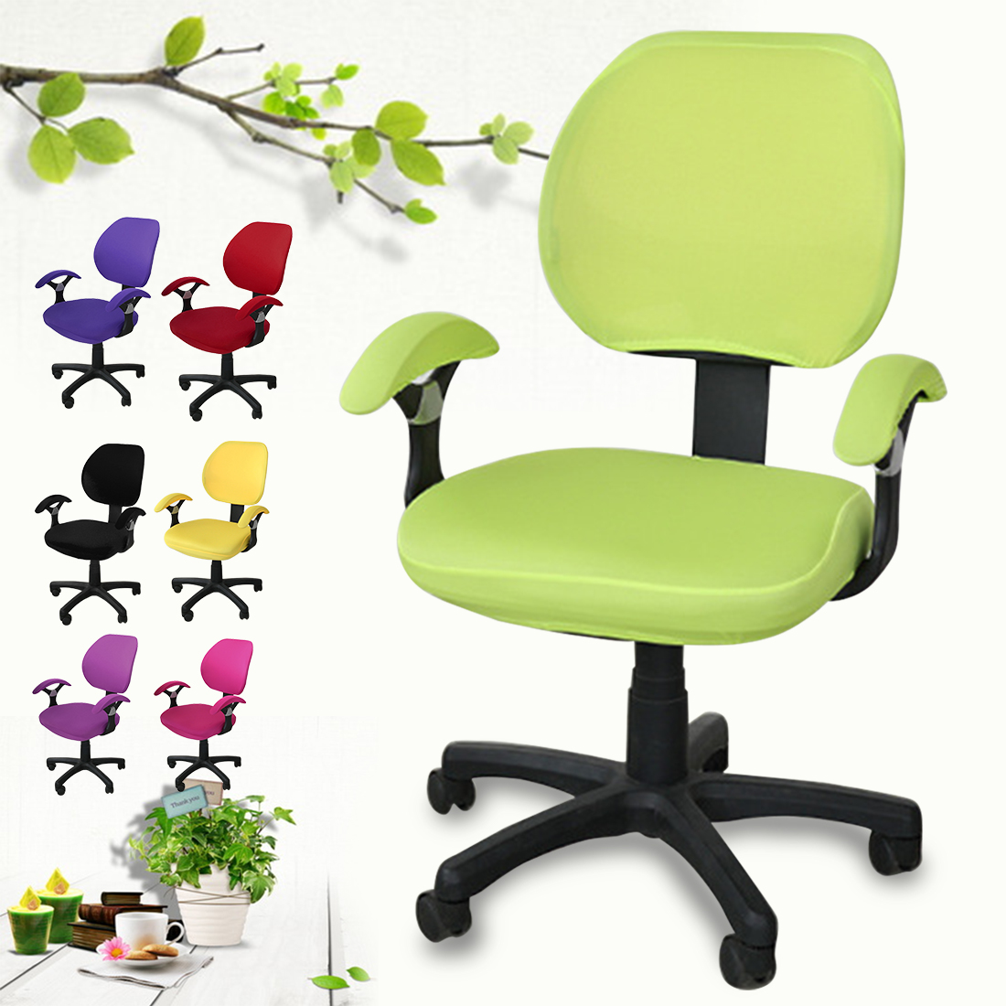Dining Chair Covers Aliexpress Kitchen Chairs Uk Spandex Computer Cover Fit For Office With