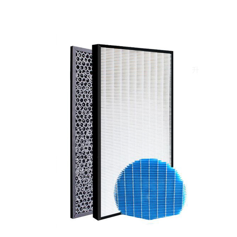 For Sharp MX-PC50H Air Purifier Heap Filter+Actived Carbon Filter +Water Filter 2pcs set high quality actived carbon heap car air filter for bmw f18 f10 f11 car air conditioner air purifier freshener