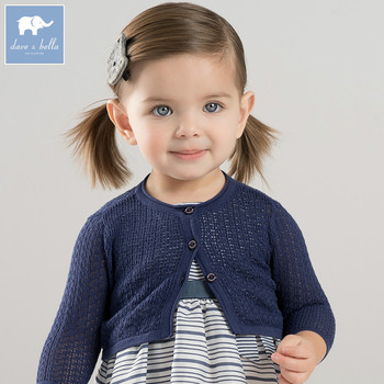 DBM7180 dave bella spring infant baby girls fashion cardigan kids toddler coat lovely children knitted sweater image