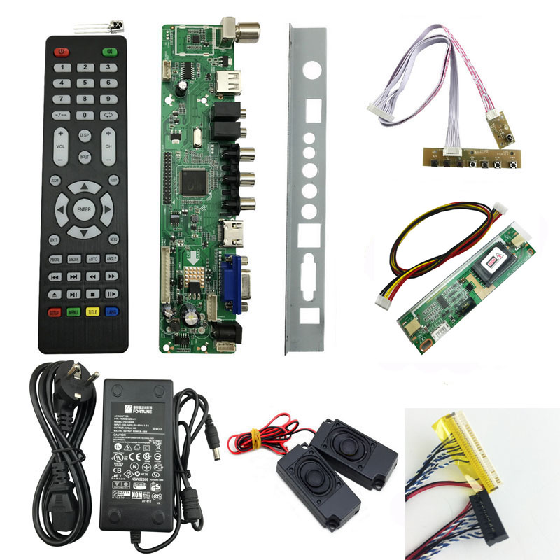 <font><b>V56</b></font> <font><b>LCD</b></font> <font><b>TV</b></font> Controller Driver Board kit DIY monitor für M185XW01 V0 18,5 zoll panel image