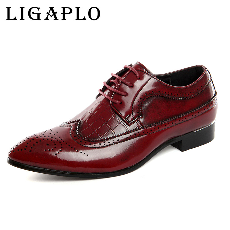 Men Dress Italian Leather Shoes Slip On Fashion Men Leather Moccasin Glitter Formal Male Shoes Pointed Toe Shoes For Men big 48