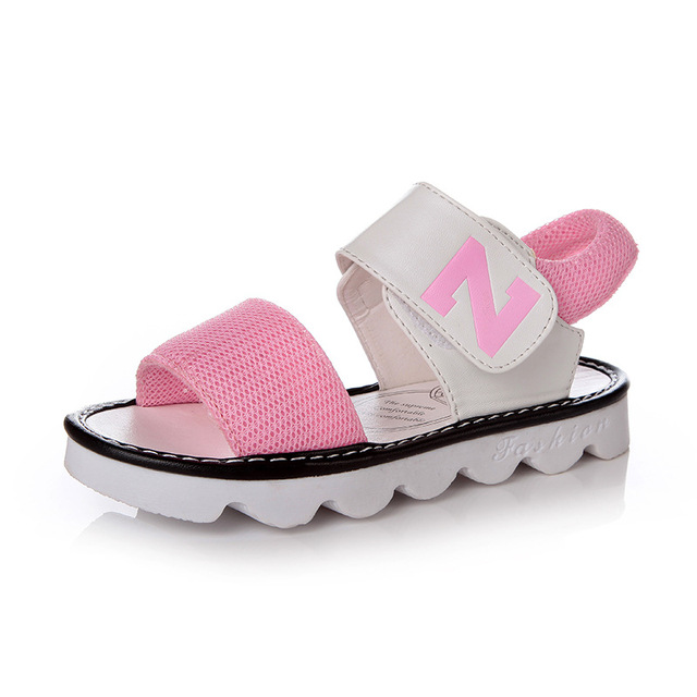 72c1fc4e79c45b Unisex 2017 Fashion Brand Designer Summer New Korean Letter Girls Sandals  Baby Kids Princess Mesh Breathable Exposed Toe Shoes