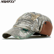Outdoor Unisex Winter Camouflage Tactische Jacht Duurzaam Baseball Cap Vissen Wandelen Camo Pet Winddicht Warm Oorklep Hoed(China)
