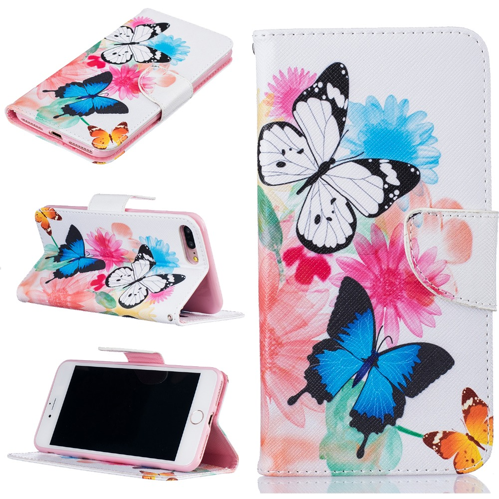 Wallet Case For coque iPhone 7 Plus Case Cover 5.5 inch for fundas iPhone 7 Plus Case Cover