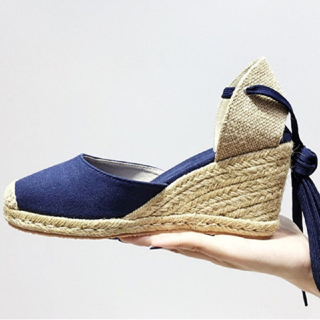 3991643a US $46.0 |New 2017 summer shoes women alpargatas de esparto mujer chaussure  femme wedge sandals-in Women's Sandals from Shoes on Aliexpress.com | ...