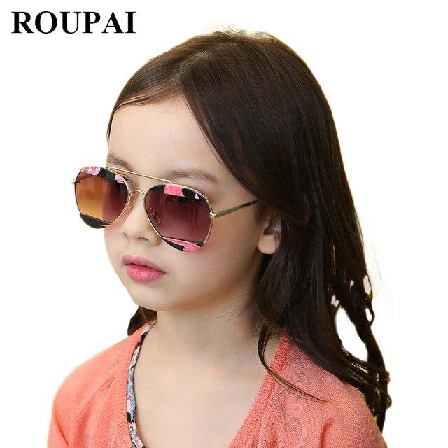 2017 fashion new brand kids sunglasses girls boys pilot sunglasses