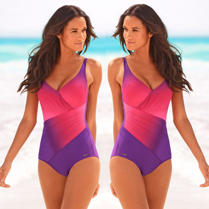 acf9f2661 Aliexpress.com   Buy Sexy Womens Gradient Color Women Swimsuit One Piece  Suits 2018 Swimming Costume One Piece Monokini Swimsuit Swimwear swimsuit  from ...