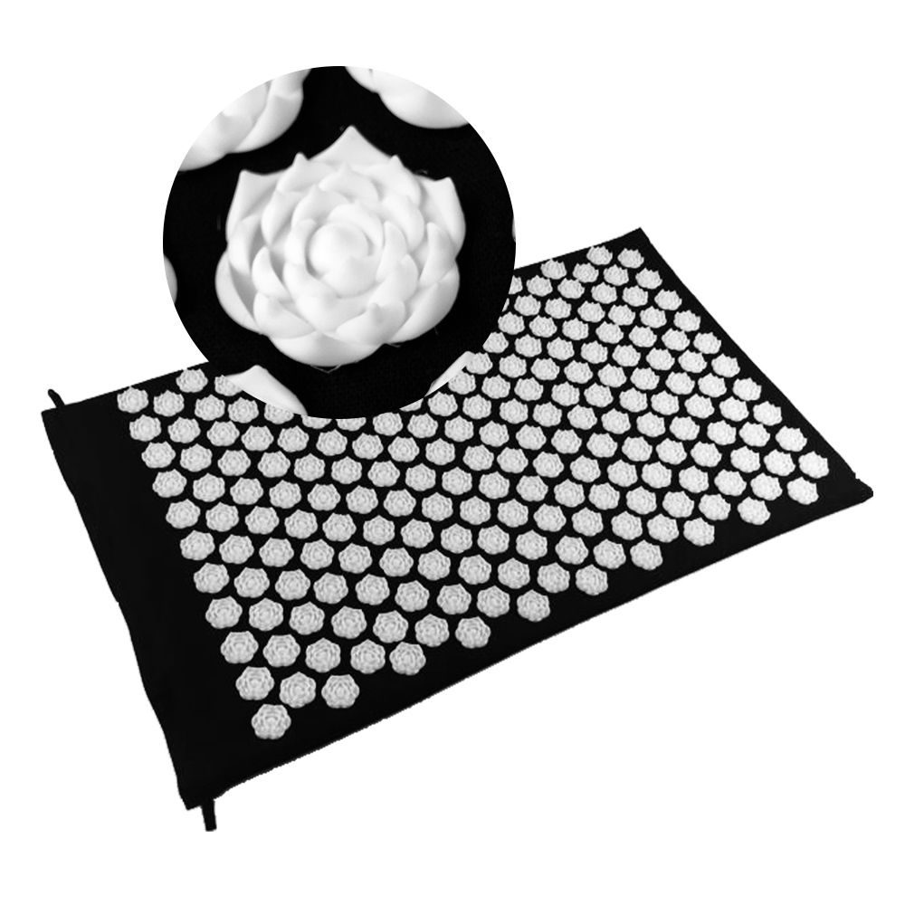 Rose Shape Shakti Mat 25nails/spike Acupressure Body Head Back Massage Pad Yoga Massager Relieve Mind Stress and Pain MP0100 acupressure yoga body massage mat