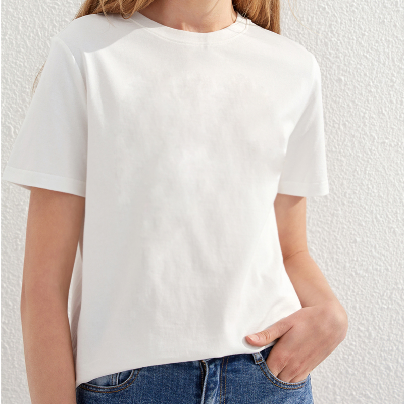 NEW Fashion Summer white   t     shirt   women short sleeve large conch printed Tops Tees Female Ladies   T  -  Shirt