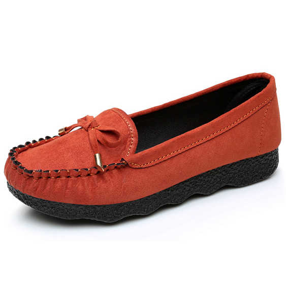 3fe5924bd ... Women Flats Loafers Faux Suede Bow Tie Shoes Woman Plush Autumn Winter  Office Lady Career Casual ...