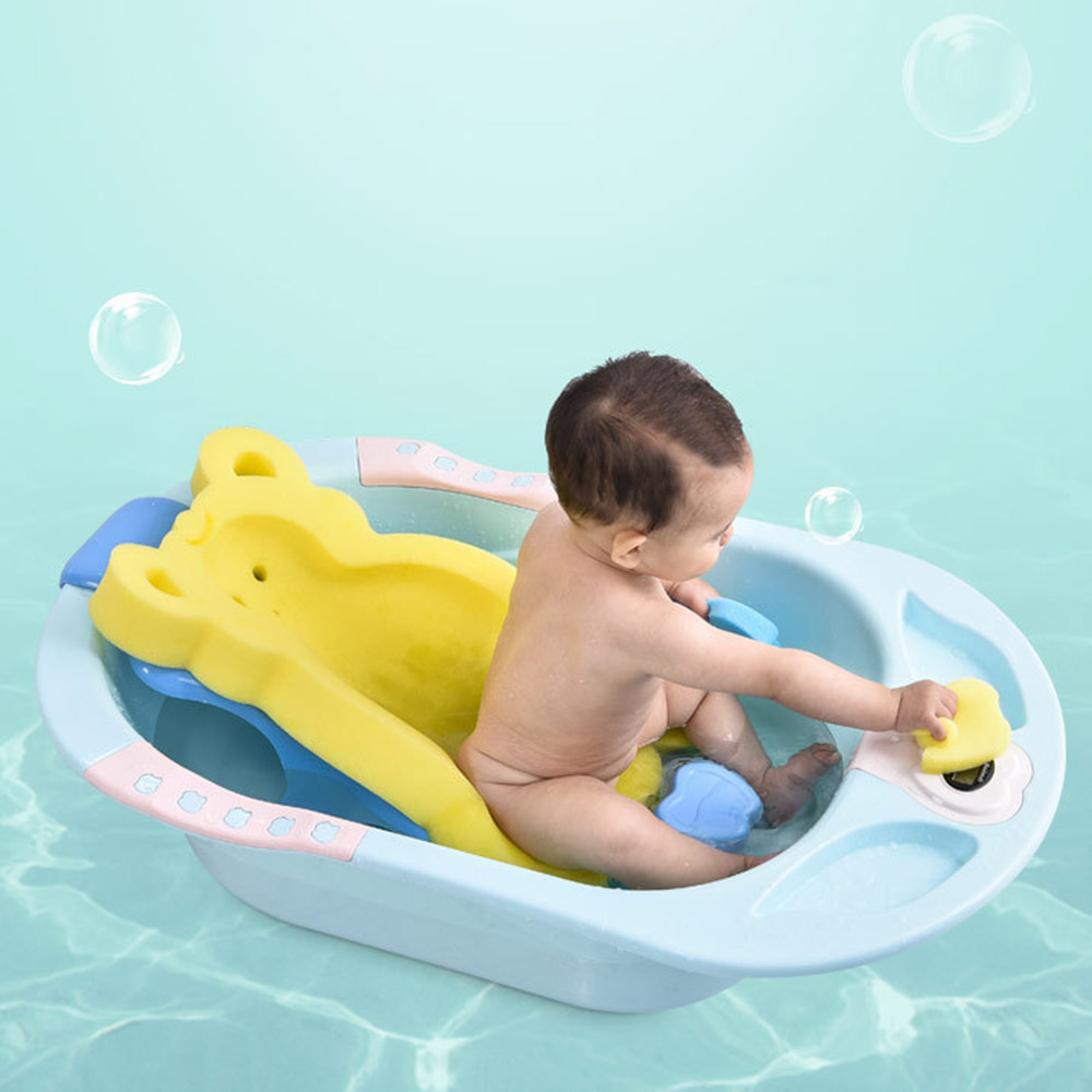 NewBorn Sponge Safety Security Bath Seat Support Portable Air Cushion Bed Babies Baby Bath Holder Non-slip Bed Infant Shower