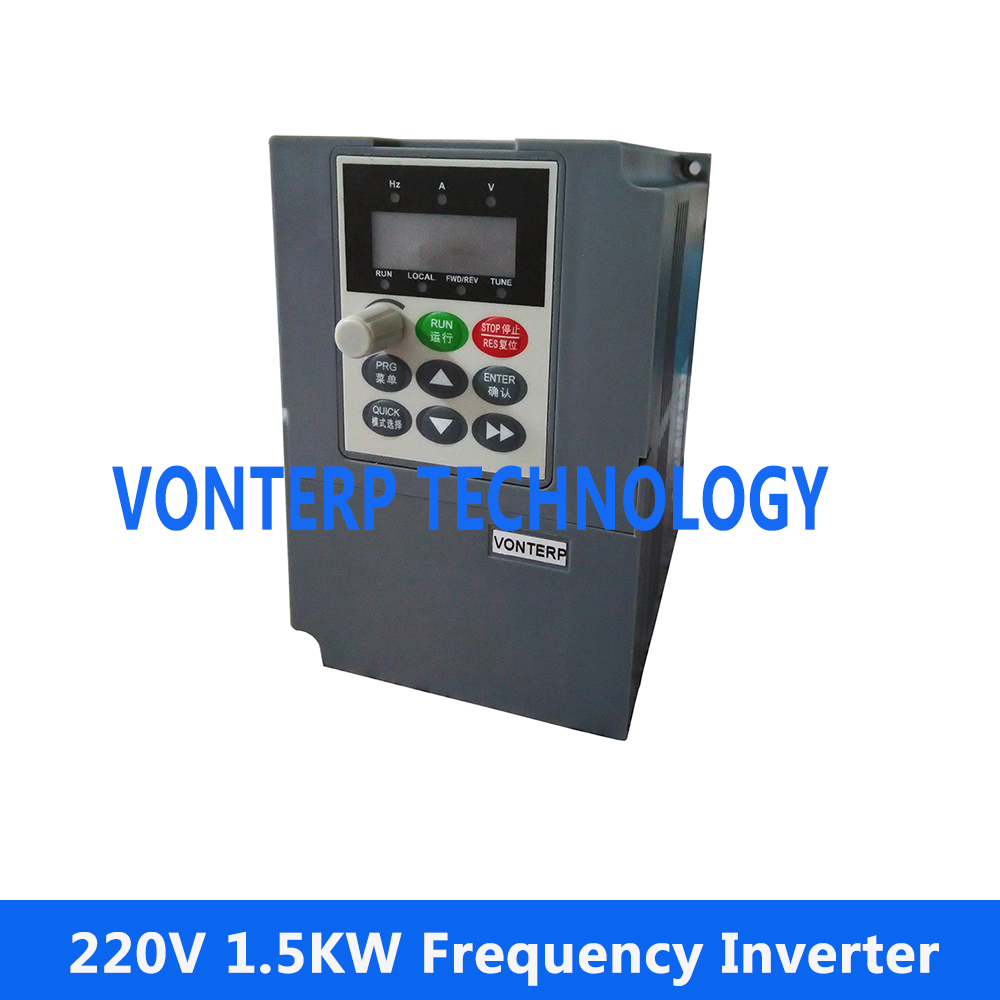 220v 1.5kw 1 phase input and 220v 3 phase outout Vector frequency converter/VFD vector control frequency converter 220v single phase to 220v three phase 220v 0 75kw