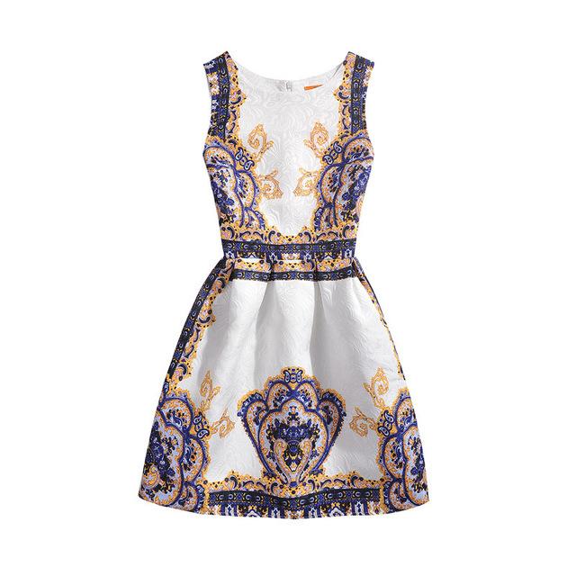 6-12Y Meninas Veste 2016 Crianças Menina Sem Mangas Floral Bonito Da Princesa Vestidos Vestido de Partido das crianças Roupas 6 7 8 9 10 11 12 anos