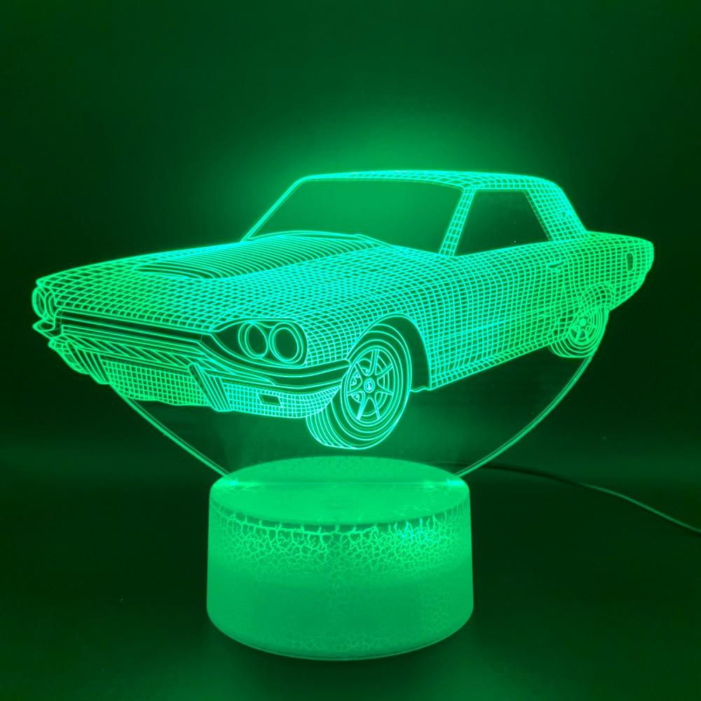 Novelty Light Vintage Car Lampara Home Deco Lamp Hologram Gift For Kid Child Retro Car Cool 3D Illusion Led Night Light Lamp