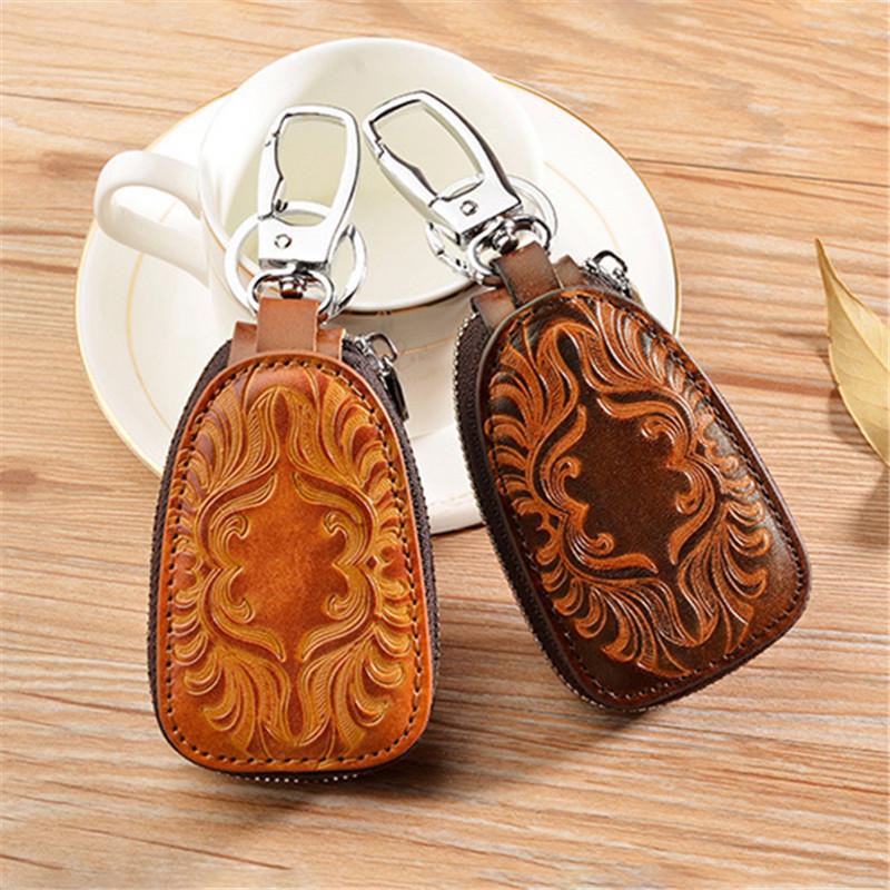 HTB15DZMKgmTBuNjy1Xbq6yMrVXar - Osmond Men Women Genuine Leather Car Key Holders Housekeeper For Men Retro Multifunctional Home Keychain Case Female Key Wallet