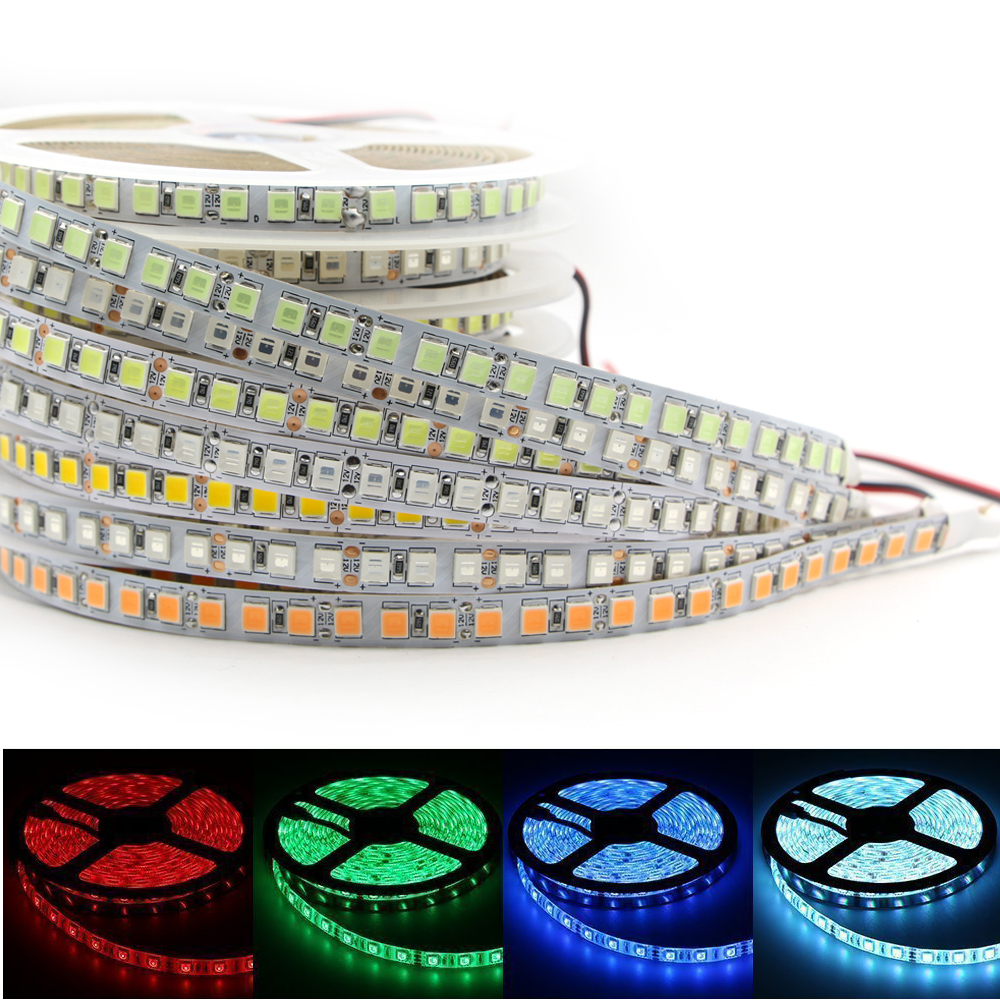 5m Led Strip 300 600 Led Smd 5054 Highlighted Led Strip 12v Flexible Light Bright Than 5050 5630 Diode Ribbon Tape Light White Lights & Lighting