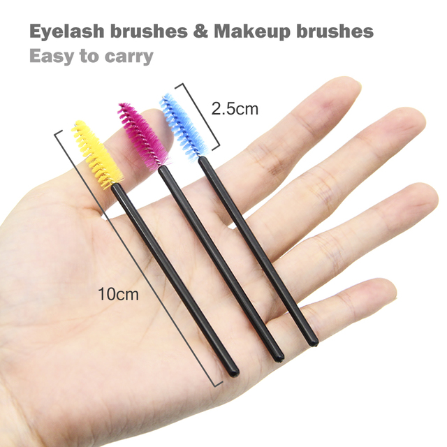 LKE 50Pcs Eyelash Brushes Makeup Brushes Disposable Mascara Wands Applicator Spoolers Eye Lashes Cosmetic Brush Makeup Tools