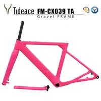 Гравийная велосипедная Рама aero Road MTB рама 142x12 мм дисковый тормоз карбоновая велосипедная Рама Post mount cyclocross Frame