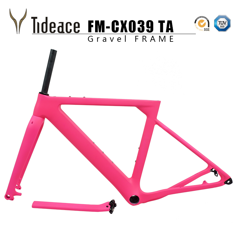 Gravel Bike Frame Aero Road MTB Frame 142x12mm Disc Brake Carbon Bicycle Frame Post Mount Cyclocross Frame