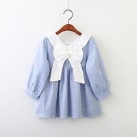 YP80119039 2018 Spring Baby Girls Dress Striped Bow Toddler Girl Dress Fashion Girl Princess Dress Baby