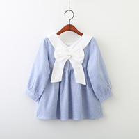 YP80119039 2018 Spring Baby Girls Dress Striped Bow Toddler Girl Dress Fashion Girl Princess Dress Baby