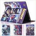 Мода фильм супергерой бэтмен черепах Капитан Америка искусственная кожа стенд держатель case cover for Ipad 2 для ipad 3 ipad 4