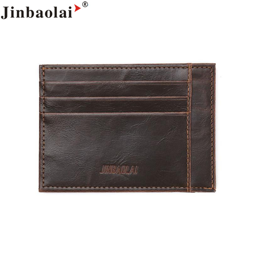 Naivety New JINBAOLAI Fashion Men PU Leather Bifold Wallet ID Credit Card Billfold Holder Clutch Purse 29S61123 drop shipping