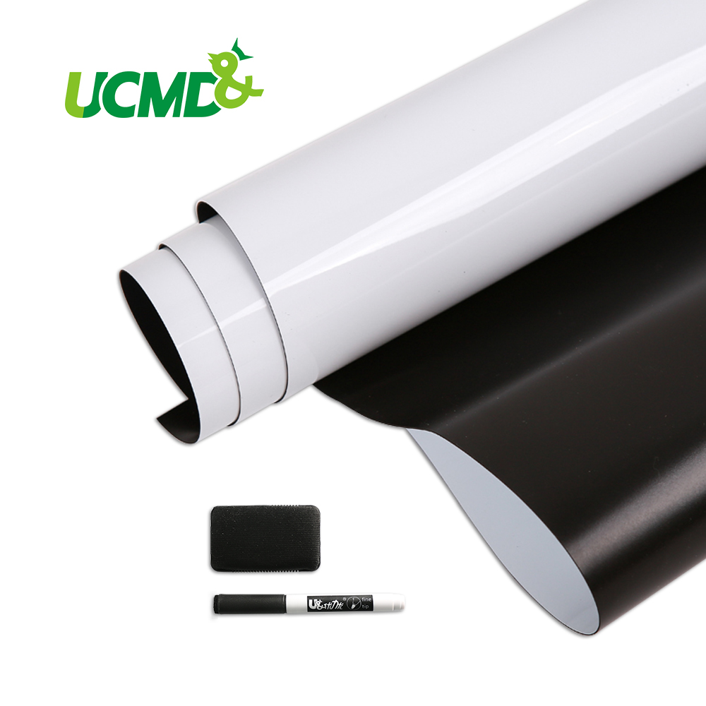 Autocollant de tableau blanc auto-magnétique pour couverture tableau blanc ancien ou Surface en métal ferreux 120 cm x 80 cm x 0.5mm