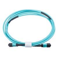 Free Shipping 12 Fiber MPO Patch Cord LSZH OM4 850nm 15m MPO(Male) Fiber Optical Patch Cable Fiber Optic Patch Cord