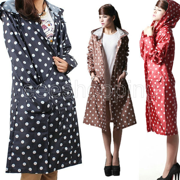 Womens Hooded Rain Coat Photo Album - Reikian