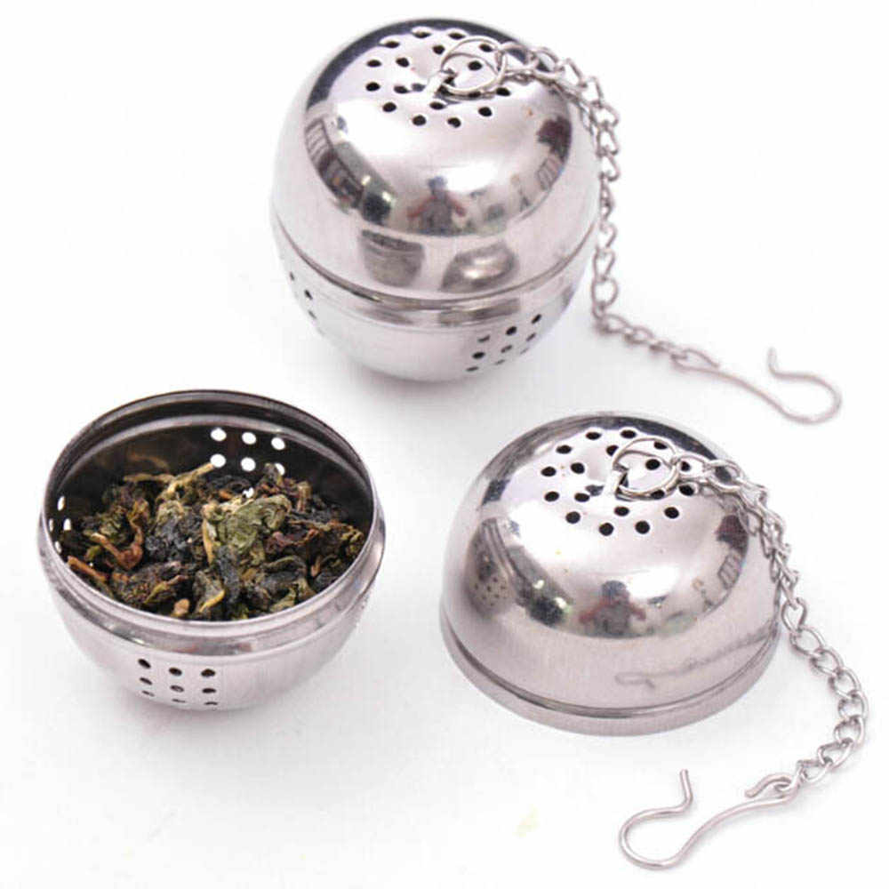 Mesh Tea Ball Infuser Strainer Essential Stainless Steel Ball Soup Coffer And Tea Strainer Filter Kitchen Cooking Tools KC1012