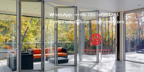 Australian Standard Sinsulated Aluminium Folding Door/retractable Fold Doors/bi Fold Door/exterior Bifold Door