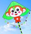 O envio gratuito de alta qualidade macaco pipa 10 pçs/lote crianças venda pipa pipa chinesa por atacado corda de nylon ao ar livre voando brinquedos
