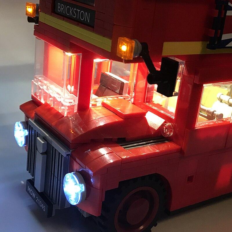 10258 londres ônibus construção tijolos compatível 21045