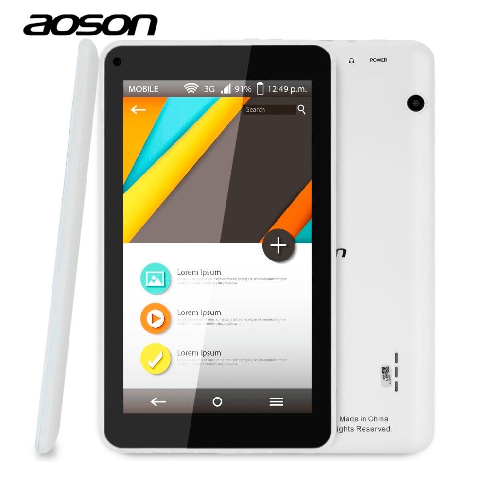Prix pour Moins cher aoson m751s-bs 7 pouce hd android tablet pc quad Core Allwinner A33 512 M/8G Double Caméras Android 4.4 wifi bluetooth enfants