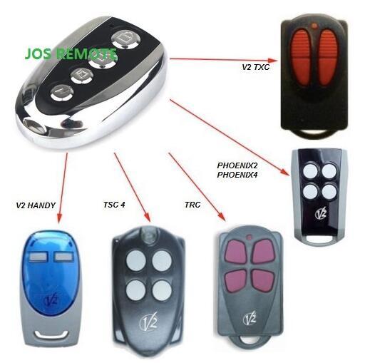 V2 garage door remote rolling door remote repacement Rolling code 433.92MHZ mini wireless remote controller receiver rolling code for garage door