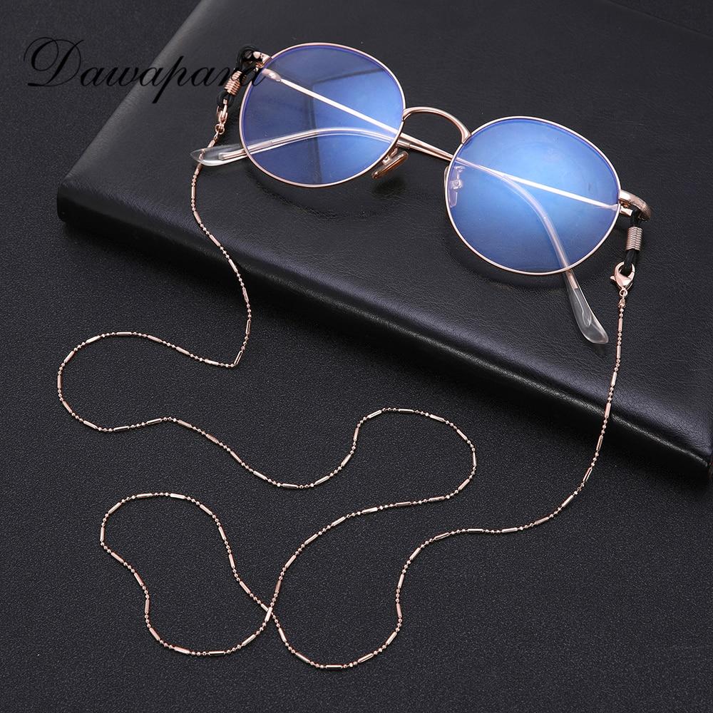 Dawapara  Sunglasses Strap Chain For Men Women Lanyard For Glasses Eye Glasses Accessories Zinc Alloy Rose Gold