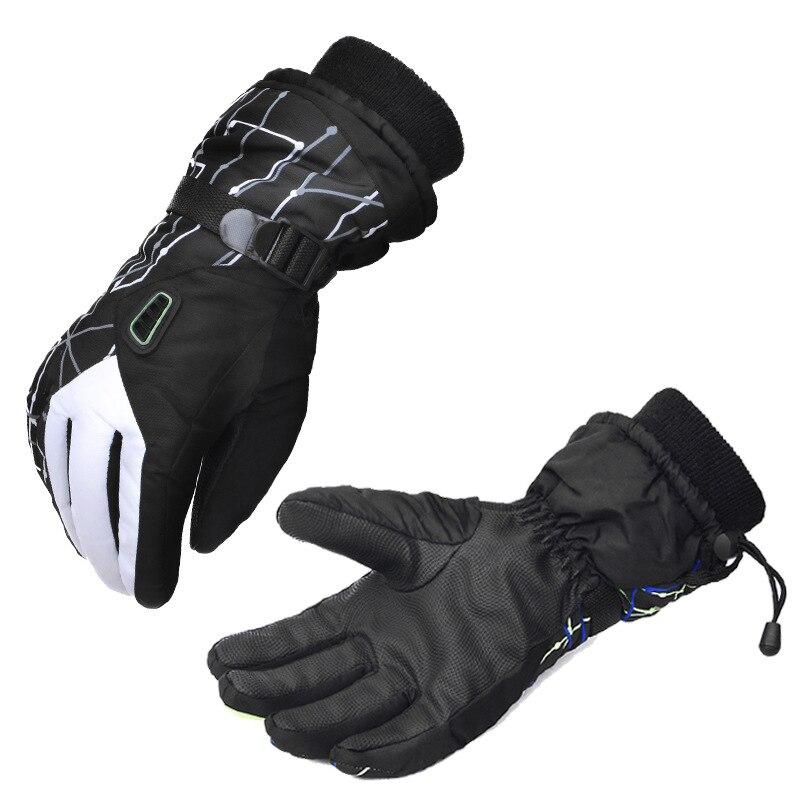 Skiing Gloves Mens Winter Gloves Thicker Anti-Skid Riding Waterproof Windproof Gloves Winter Male Thicken Gloves Opera Warm